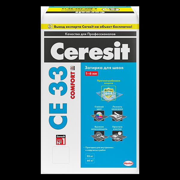 Купить затирка швов плитки Ceresit CE 33 Comfort Омск