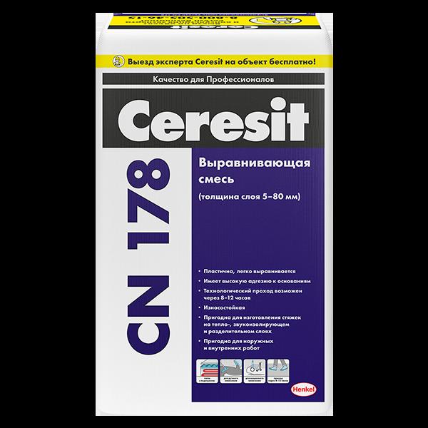 Купить Стяжка пола Ceresit CN 178 Омск