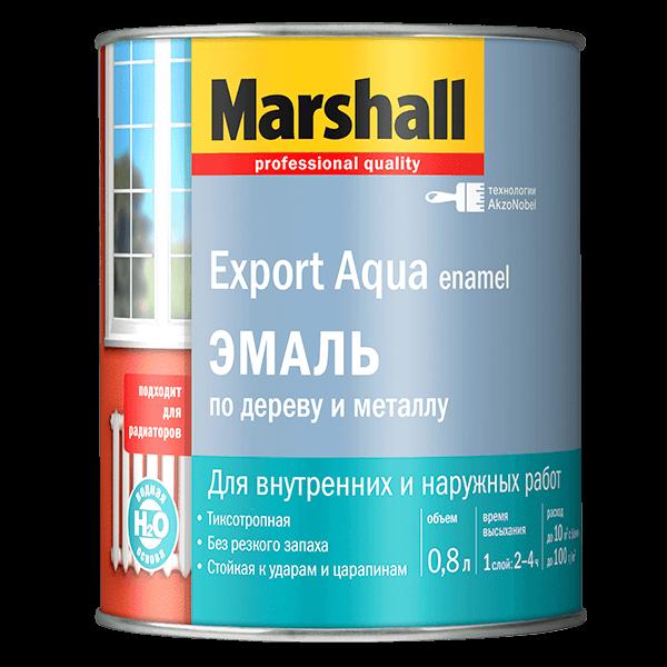 Купить эмаль для дерева и металла Marshall Export Aqua Enamel Омск