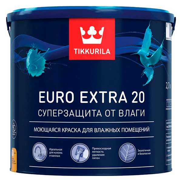 Купить краска Tikkurala Euro Extra 20 Омск