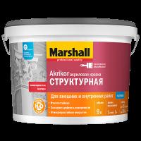 Купить краску фасадную Marshall Akrikor Структурная Омск